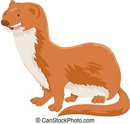 weasel cartoon animal character - Cartoon Illustration of...