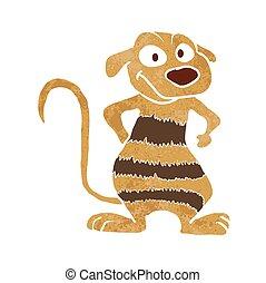 weasel cartoon - weasel animal cartoon.vector illustration