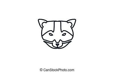 weasel or civet head animal design