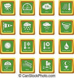 weater, ikona, dát, nezkušený, čtverec, vektor