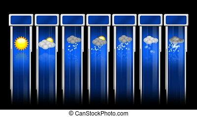 Weather animated icon set
