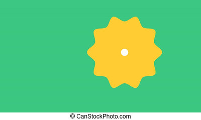 Weather animation. Cloud, sun icon PNG format with ALPHA transparency