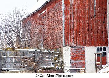 Weather Barn in Winter
