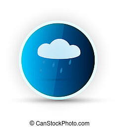 weather blue glossy icon on white background