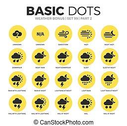 Weather bonus flat icons vector set - Weather bonus flat...