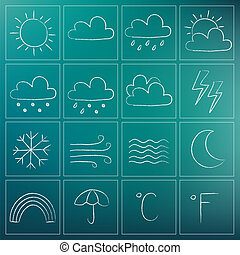 Weather chalky icons