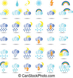 weather colorful  icon set  for web design