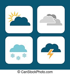 weather concept design, vector illustration.