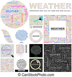 Weather. Concept illustration. - Weather. Word cloud...