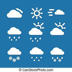 Weather conditon icons collection