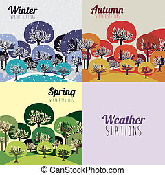 weather design over beige background vector illustration
