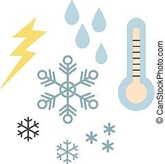 Weather flat illustration on white
