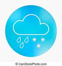 Weather flat style icon.