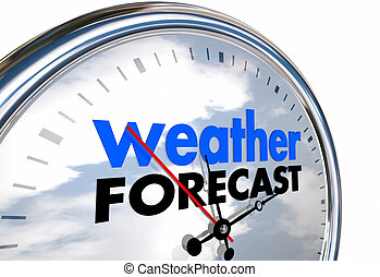 Weather Forecast Clock Time Planning Ahead 3d Illustration