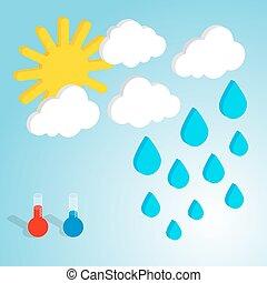 Weather forecast flat isometric vector illustration
