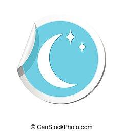 Weather forecast moon icon