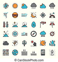 Weather forecast pixel perfect outline icon