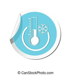 Weather forecast, thermometer icon