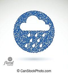 Weather forecast vector icon, meteo