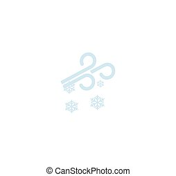 Weather forecast - wind and snow symbol - winter weather