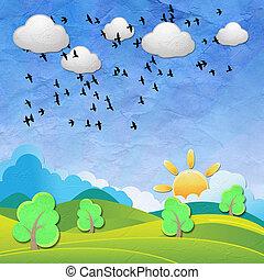 Weather grunge paper