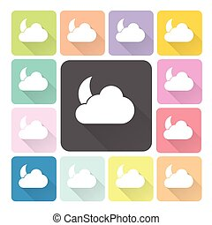 Weather Icon color set vector illustration