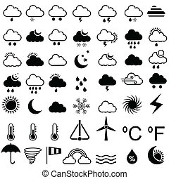 Weather Icon - easy to edit vector illustration of weather...