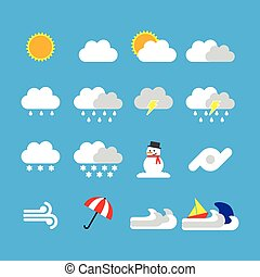 weather icon flat style