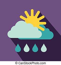 Weather icon, flat style