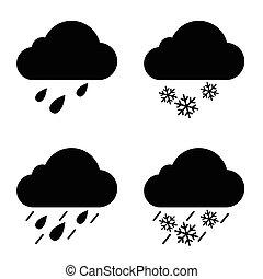 weather icon in black illustration