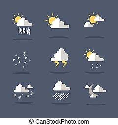Weather icon set illustration vector