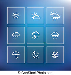 Weather icon set - vector illustration
