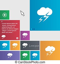Weather icon sign. buttons. Modern interface website buttons with cursor pointer. Vector