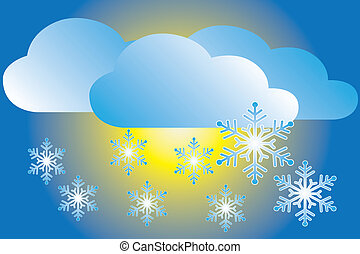 icon snowfall - weather icon snowfall