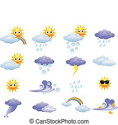 Vector illustration of weather icon set