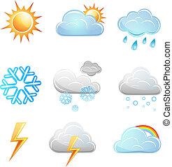 Weather icon vector set