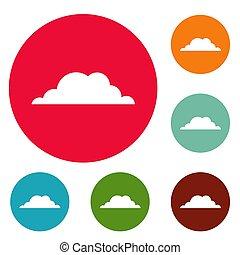 Weather icons circle set