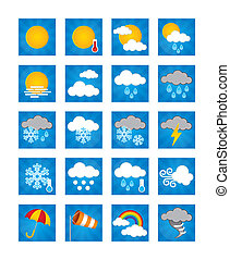 Weather Icons - Day - 20 weather icons with a daytime theme