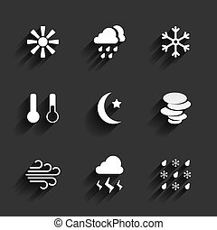 Weather icons in Flat Design Style