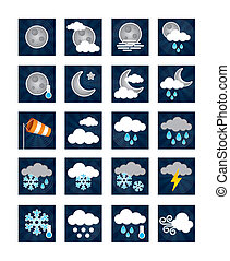 Weather Icons - Night - Night time themed weather icons