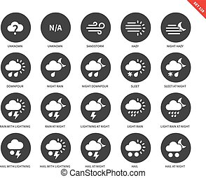 Weather icons on white background - Weather vector icons...
