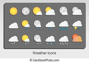 Weather icons set flat design