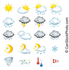 Weather icons - Set of 20 high quality vector weather icons