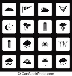 Weather icons set , simple style