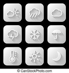 Weather icons set. Vector illustrat