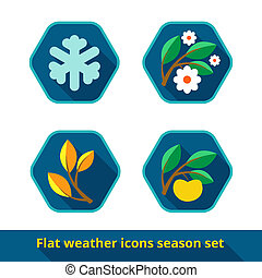 Weather icons set, vector
