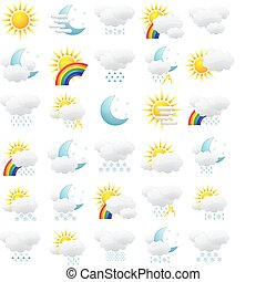 Weather icons - The collection of different weather icons.