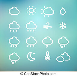 weather icons - Vector illustration set of original retro...