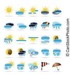 Weather icons - Vector Icon Set