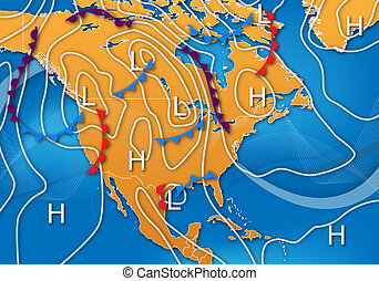 Weather Map of North America - Weather Map Design of North...